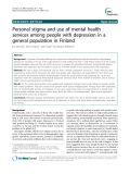 """Báo cáo y học: """"Personal stigma and use of mental health services among people with depression in a general population in Finlan"""""""