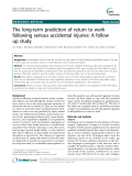 "Báo cáo y học: ""The long-term prediction of return to work following serious accidental injuries: A follow up study"""