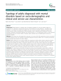 """Báo cáo y học: """"Typology of adults diagnosed with mental disorders based on socio-demographics and clinical and service use characteristic"""""""