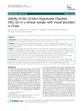 "Báo cáo y học: ""Validity of the 32-item Hypomania Checklist (HCL-32) in a clinical sample with mood disorders in China"""