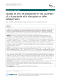 """Báo cáo y học: """" Change in level of productivity in the treatment of schizophrenia with olanzapine or other antipsychotics"""""""