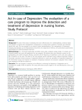 """Báo cáo y học: """" Act In case of Depression: The evaluation of a care program to improve the detection and treatment of depression in nursing homes. Study Protocol"""""""