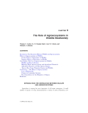 BIODIVERSITY IN AGROECOSYSTEMS - CHAPTER 9
