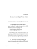 Digital Terrain Modeling: Principles and Methodology - Chapter 11