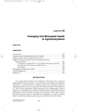 Structure and Function in Agroecosystem Design and Management - Chapter 16