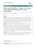"Báo cáo y học: "" Gender-specific profiles of tobacco use among non-institutionalized people with serious mental illness"""