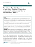 """Báo cáo y học: """"The Autism - Tics, AD/HD and other Comorbidities inventory (A-TAC): further validation of a telephone interview for epidemiological research"""""""