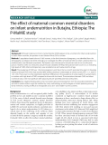 """Báo cáo y học: """" The effect of maternal common mental disorders on infant undernutrition in Butajira, Ethiopia: The P-MaMiE study"""""""