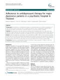 "Báo cáo y học: "" Adherence to antidepressant therapy for major depressive patients in a psychiatric hospital in Thailand, """