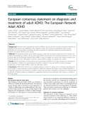 "Báo cáo y học: ""European consensus statement on diagnosis and treatment of adult ADHD: The European Network Adult ADHD"""