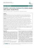 "Báo cáo y học: "" Assertive community treatment for elderly people with severe mental illness"""