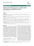 """Báo cáo y học: """"Reasons for illicit drug use in people with schizophrenia: Qualitative study"""""""