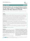"Báo cáo y học: ""  Peripheral blood and neuropsychological markers for the onset of action of antidepressant drugs in patients with Major Depressive Disorder"""