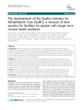 "Báo cáo y học: ""The development of the Quality Indicator for Rehabilitative Care (QuIRC): a measure of best practice for facilities for people with longer term mental health problems"""