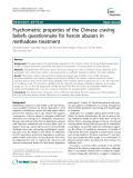 """Báo cáo y học: """"  Psychometric properties of the Chinese craving beliefs questionnaire for heroin abusers in methadone treatment"""""""