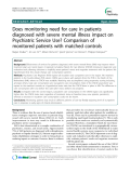 """Báo cáo y học: """" Does monitoring need for care in patients diagnosed with severe mental illness impact on Psychiatric Service Use? Comparison of monitored patients with matched controls"""""""