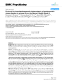 """Báo cáo y học: """" Protocol for investigating genetic determinants of posttraumatic stress disorder in women from the Nurses' Health Study II"""""""