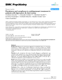 """Báo cáo y học: """"Persistence and compliance to antidepressant treatment in patients with depression: A chart review"""""""