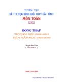 Tuyển tập đề thi học sinh giỏi toán tỉnh Đồng Tháp năm 2000-2009
