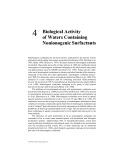 Biological effects of surfactants - Chapter 4