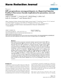 """báo cáo khoa học: """"  HIV seroprevalence among participants at a Supervised Injection Facility in Vancouver, Canada: implications for prevention, care and treatment"""""""