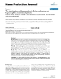 """báo cáo khoa học: """"   The barriers to smoking cessation in Swiss methadone and buprenorphine-maintained patients"""""""