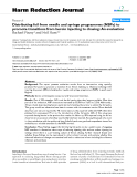 """báo cáo khoa học: """" Distributing foil from needle and syringe programmes (NSPs) to promote transitions from heroin injecting to chasing: An evaluation"""""""