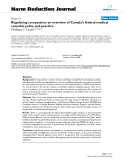 """báo cáo khoa học: """"  Regulating compassion: an overview of Canada's federal medical cannabis policy and practice"""""""