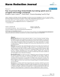 """báo cáo khoa học: """"  Can we prevent drug related deaths by training opioid users to recognise and manage overdoses?"""""""