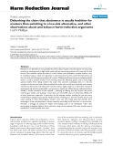 """báo cáo khoa học: """" Debunking the claim that abstinence is usually healthier for smokers than switching to a low-risk alternative, and other observations about anti-tobacco-harm-reduction arguments"""""""