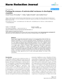 """báo cáo khoa học: """" Curbing the menace of antimicrobial resistance in developing countries"""""""