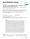 """báo cáo khoa học: """" Getting the message straight: effects of a brief hepatitis prevention intervention among injection drug users"""""""