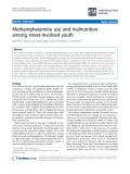 "báo cáo khoa học: ""   Methamphetamine use and malnutrition among street-involved youth"""