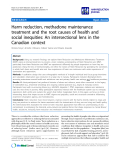 """báo cáo khoa học: """"   Harm reduction, methadone maintenance treatment and the root causes of health and social inequities: An intersectional lens in the Canadian context"""""""