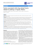 """báo cáo khoa học: """"  Factors associated with drug-related harms related to policing in Tijuana, Mexico"""""""