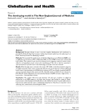 "báo cáo khoa học: ""  The developing world in The New England Journal of Medicine"""