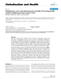 """báo cáo khoa học: """"   Globalization and social determinants of health: Promoting health equity in global governance (part 3 of 3)"""""""