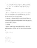 Bài : 60 NGUYÊN TẮC HOẠT ĐỘNG CỦA ĐỘNG CƠ NHIỆT VÀ MÁY LẠNH