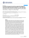 """Báo cáo y học: """"  Prolonged extracorporeal membrane oxygenation therapy for severe acute respiratory distress syndrome in a child affected by rituximab-resistant autoimmune hemolytic anemia: a case report"""""""