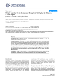 "Báo cáo y học: "" Beta-2-transferrin to detect cerebrospinal fluid pleural effusion: a case report"""