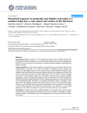 """Báo cáo y học: """" Household exposure to pesticides and bladder exstrophy in a newborn baby boy: a case report and review of the literature"""""""