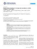 """Báo cáo y học: """"Acute urinary retention in a young man secondary to colonic irrigation: a case report"""""""