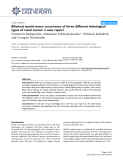 """Báo cáo y học: """"Blateral synchronous occurrence of three different histological types of renal tumor: a case report"""""""