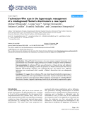 "Báo cáo y học: ""Technetium-99m scan in the laparoscopic management of a misdiagnosed Meckel's diverticulum: a case report"""