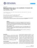 "Báo cáo y học: ""Epidermal inclusion cyst as a rare complication of neonatal male circumcision: a case report"""