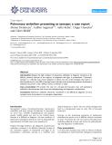 """Báo cáo y học: """"Pulmonary embolism presenting as syncope: a case report"""""""