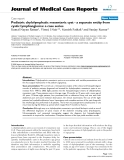 "Báo cáo y học: "" Pediatric chylolymphatic mesenteric cyst - a separate entity from cystic lymphangioma: a case series"""