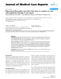 """Báo cáo y học: """" Pigmented villonodular synovitis of the knee in a patient on oral anticoagulation therapy: a case report"""""""