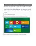 Bật và tắt chức năng Touch Screen trên Windows 8