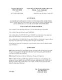 Quyết định số 21/2011/QĐ-UBND